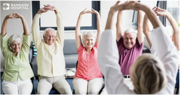6 ท่าบริหารฟื้นฟูกล้ามเนื้อในผู้สูงวัย